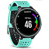 Garmin - Forerunner 235 with Wrist Based HRM Black and Frost Blue