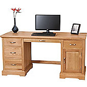 Aspen Solid Oak Large Office Computer Desk
