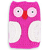 Quirky Bird Knitted Character Handy Phone Cover - Pink Owl