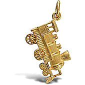 Jewelco London 9ct Solid gold steam engine design Pendant charm
