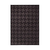 Esprit Craft Black Contemporary Rectangular Rug