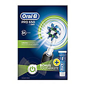 Oral-B Power PRO CrossAction Pro 650 Black Toothbrush