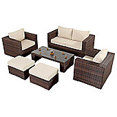 Luxan WGF-205 Port Royal Prestige Brown Small Sofa Set