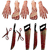 Halloween Decorations Bodyparts/Tools Garland - 5.5ft (each)