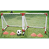 Childrens Mini Football Twin Goal Post Training Set