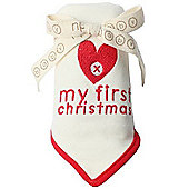 Natures Purest My First Christmas Dribble Bib