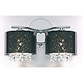 Endon Lighting Wall Light with Plastic Shade in a Smoked Glass Finish