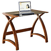 Jual Curve - Compact Walnut and Glass Desk