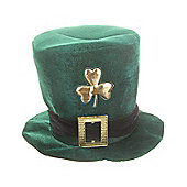 Irish Hat. Green Velvet