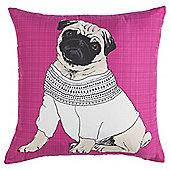 Pug In Jumper Cushion