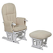 Tutti Bambini Daisy Multi Position Glider Chair & Stool - White