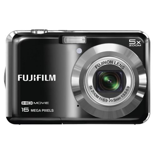 Fuji AX650 Digital Camera, Black, 16MP, 5x Optical Zoom, 2.7