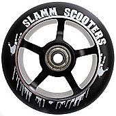 Slamm 110mm Essential Spoke Metal Core Scooter Wheel and Bearings - Black