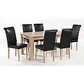 Home Zone Moda 7 Pieces Dining Collection