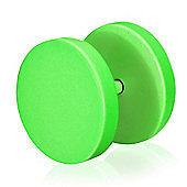 Urban Male Bright Green Fake Ear Expander Plug For Men