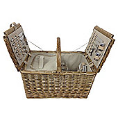 Wicker Valley Rectangular Two Lidded Fitted Picnic Hamper