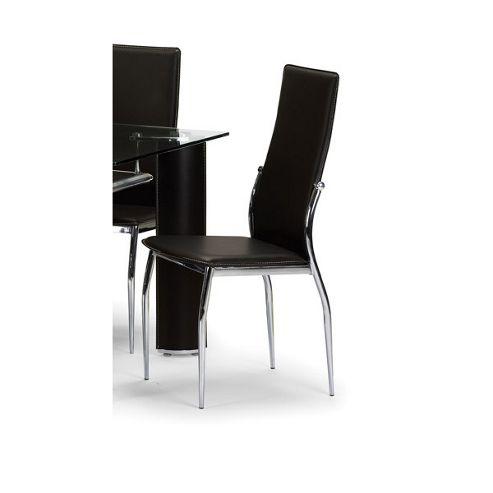Julian Bowen Boston Dining Chair in Brown (Set of 6)