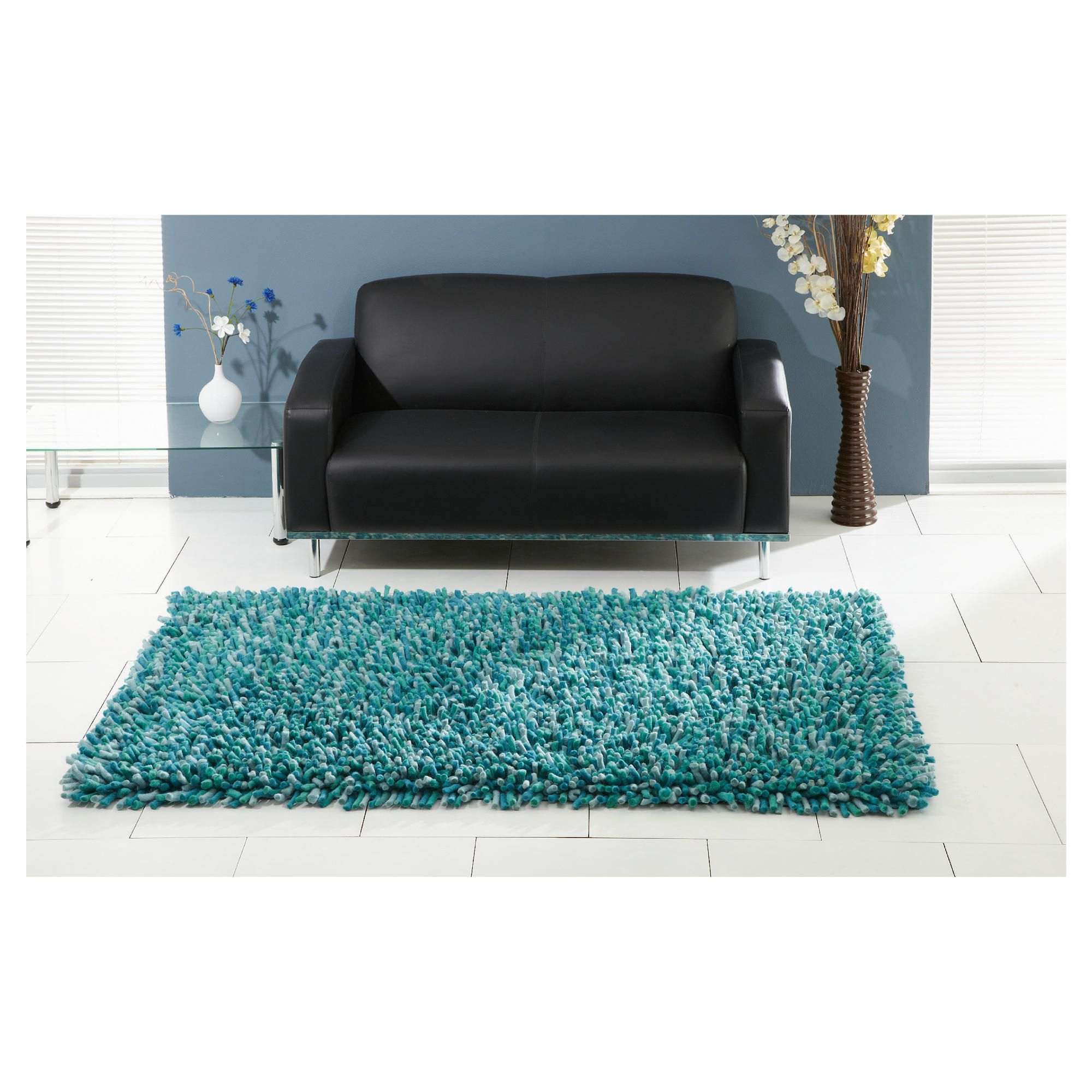 The Ultimate Rug co. Rocky Rug Teal 160x230cm at Tesco Direct