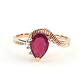 QP Jewellers Diamond & Ruby Belle Diamond Ring in 14K Rose Gold