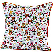 Homescapes Cotton Owls Scatter Cushion, 30 x 30 cm