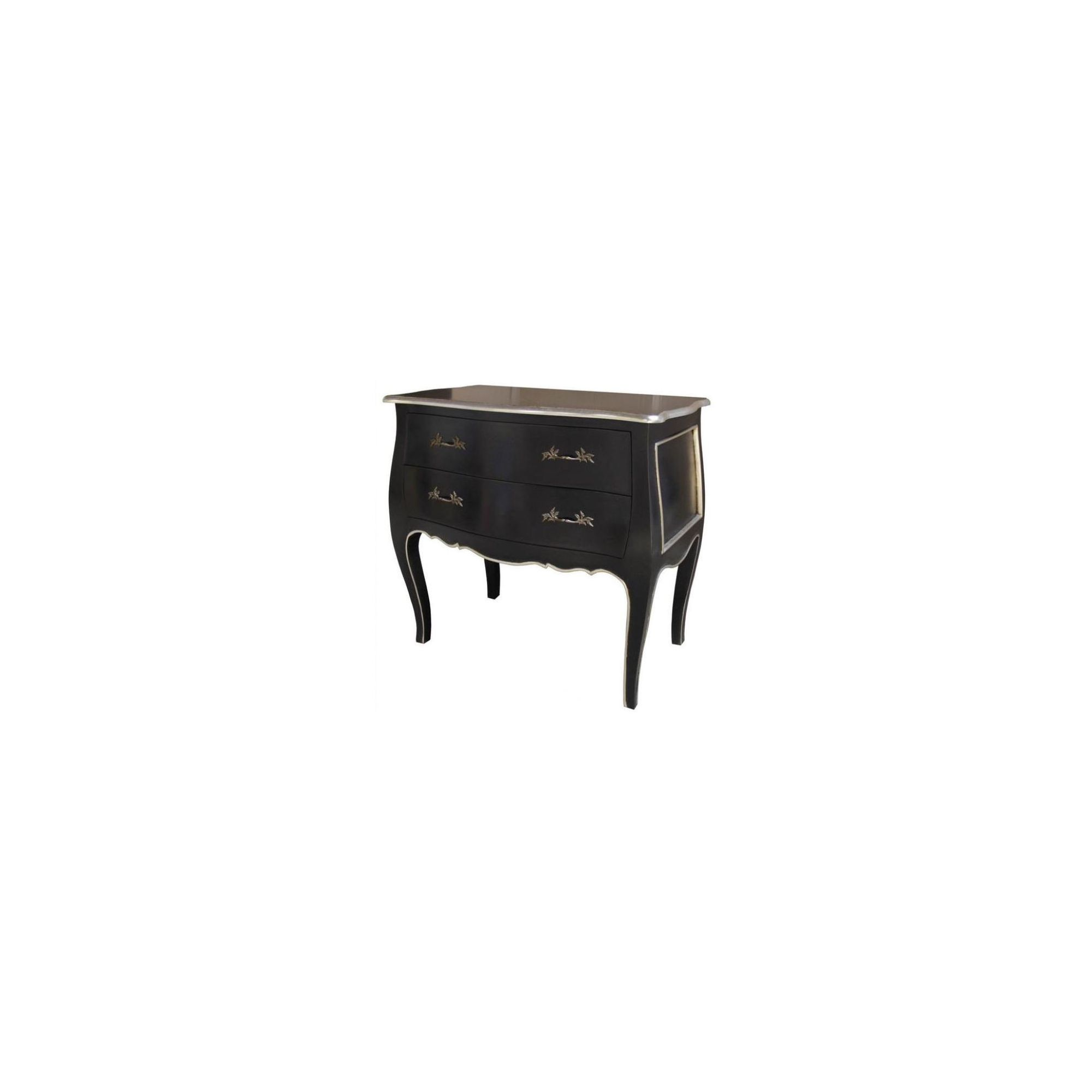 Lock stock and barrel Mahogany Bombe Chest in Mahogany - Black at Tesco Direct