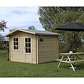 10ft x 8ft (3m x 2.4m) Apex Log Cabin (Double Glazing) 34mm
