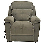 Fabric Power Lift Recliner Chair Brown