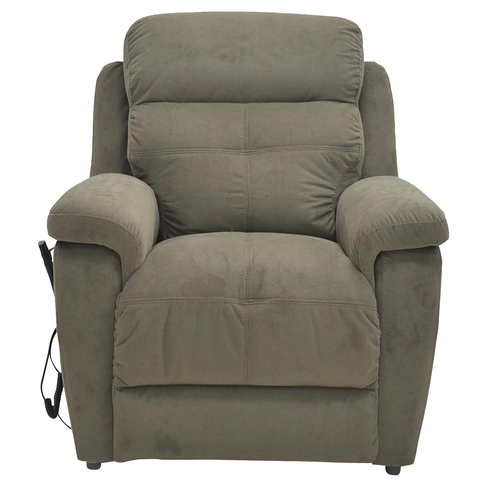 Fabric Power Lift Recliner Chair Brown at Tesco Direct