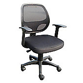 Alphason Davis Fabric and Mesh Operator Chair with Arms in Black