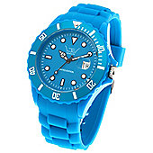 LTD Angel Bezel Unisex Blue Silicone Date Watch 71302