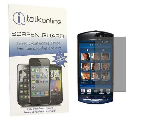 iTALKonline S-Protect LCD Screen Protector and Micro Fibre Cleaning Cloth - For Sony Ericsson MT15 Neo Halon Xperia