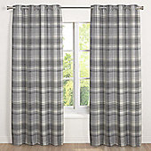 Julian Charles Inverness Silver Lined Woven Eyelet Curtains - 66x72 Inches (168x183cm)