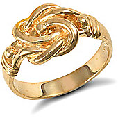 Jewelco London 9ct Solid Gold light weight Knot Ring