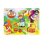 Bigjigs Toys BJ547 Chunky Lift Out Pirate Puzzle