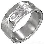 Urban Male Men's Stainless Steel 8mm Celtic Design Ring