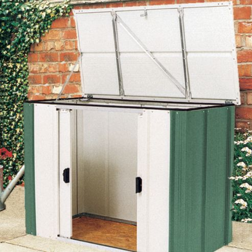 Buy 6x3 metal storette from our outdoor storage range tesco for Garden shed 6x3
