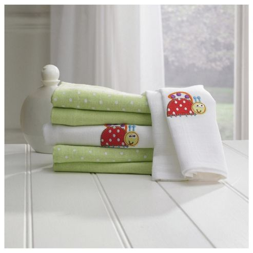 Lollipop Lane Lady Bug Muslin Squares 6Pk