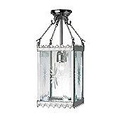 Kansa Lighting Victorian One Light Gothic Lantern in Chrome