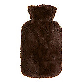 Linea Brown Fur Hot Water Bottle