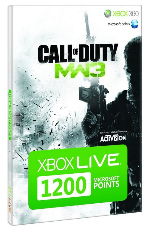 Xbox Live - 1200 Microsoft Points - Call Of Duty Modern Warfare 3 Branded