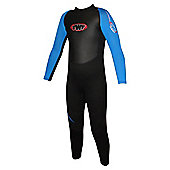 TWF Full wetsuit 2.5mm Black/Blue Age 5/6
