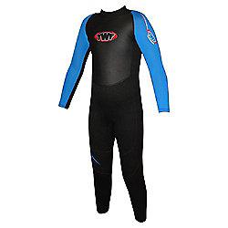 TWF Full wetsuit 2.5mm Black/Blue Age 5/6