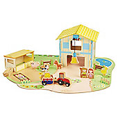 Carousel Wooden Farm Play Set