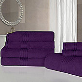 Dreamscene Luxury Egyptian Cotton 7 Piece Towel Bale Set - Plum