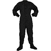 All in One Footed Pyjamas - White and Black (Extra Large)
