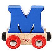 Bigjigs Rail Rail Name Letter M (Dark Blue)