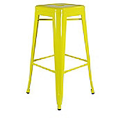 Xavier Pauchard High Yellow Tolix Style Stool