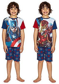 Marvel Captain America and Iron Man Shorts Pyjamas - Multi