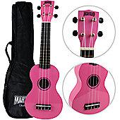 Mahalo 2511 Rainbow Soprano Ukulele - Pink