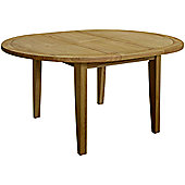 Kelburn Furniture Loire Round Extending Table in Light Oak Stain and Satin Lacquer